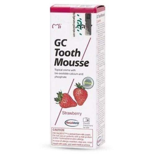 GC Mousse 40g Tube - 1 Pcs - Strawberry Toothcreme (Similar to GC MI)