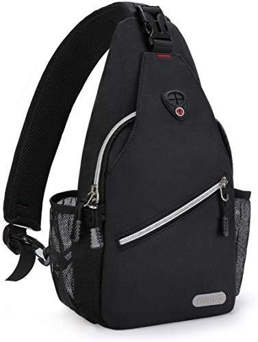 MOSISO Mini sling rugzak borsttas, kleine multifunctionele wander rugzak Travel Fanny Purse Pack Crossbody schoudertas Outdoor Sports Casual rugzak voor mannen/vrouwen/tieners