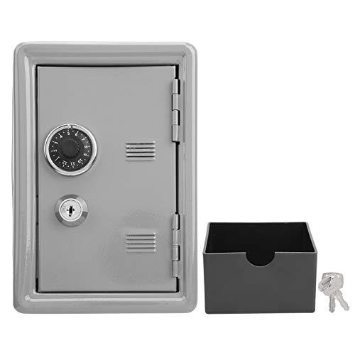 Hucha para niños, Caja de efectivo, Caja de ahorro de monedas, Caja de seguridad para niños, Antióxido de hierro, para niños en casa(grey)
