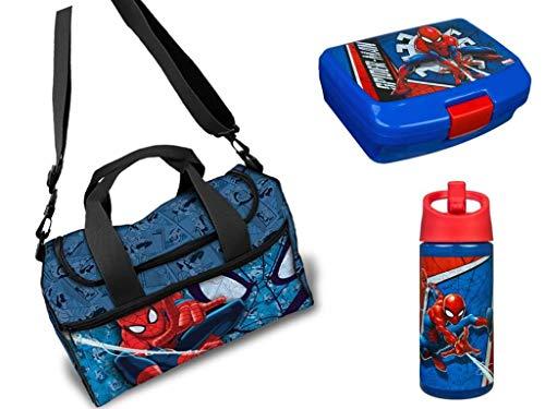 Spiderman Sporttasche*Brotdose*Sportflasche Set 3teilig