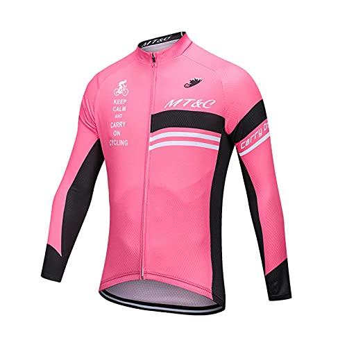 GRTE Camisetas de Ciclismo de Manga Larga para Mujer Tops Moisture Wicking Ciclismo al Aire Libre Ropa Deportiva,A,XL
