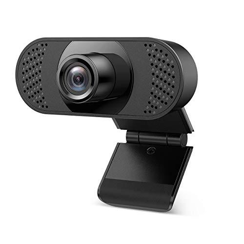 Ehome Webcam mit Mikrofon, Webcam 1080P für Laptop, Desktop, USB 2.0 Hd Webcam Autofocus,mit automatischer Lichtkorrektur für Live-Streaming, Videoanrufe, Online-Unterricht, Konferenz, Spielen