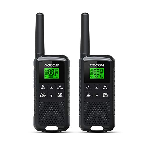 GOCOM G200 Family Radio servie (FRS), for Adults, Long Range, Rechargeable, Frequency Range:462.55-462.725MHz,467.5625-467.7125MHz UHF (No Batteries Included)