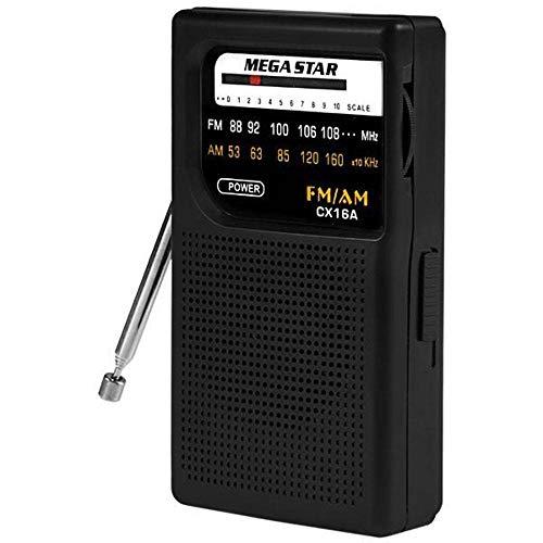 Radio Portatil Am/Fm Megastar Cx16a Com 2 Bandas A Pilha