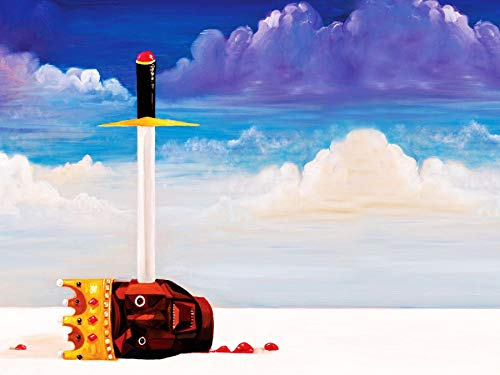 Mingki Kanye West - My Beautiful Dark Twisted Fantasy Illustration Poster - 18 × 24 Inch