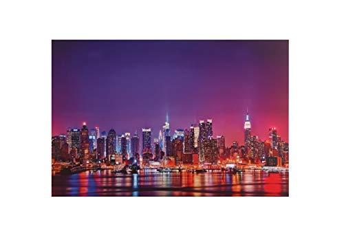 Dapo® LED-Wand-Leinwand-Bild-Leuchte-Lampe 60x40cm Stimmungs-Dekorations-indirekte-Leuchte-Lampe-Beleuchtung Batteriebetrieben, EIN/Aus-Schalter (Skyline)