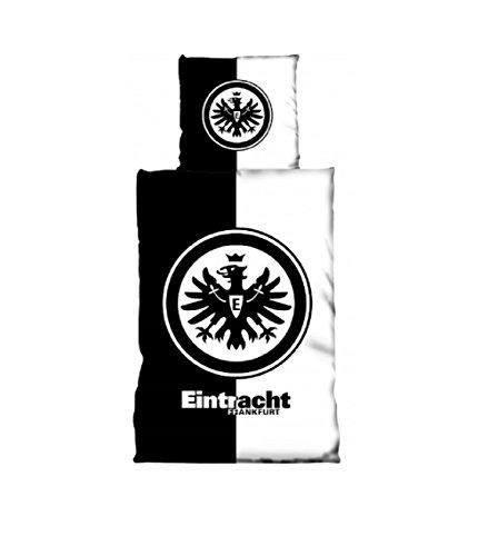 Eintracht Frankfurt Logo Bettwäsche 135x200 + 80x80 (schwarz/weiß)