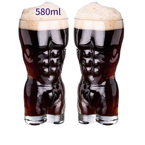 Adulto Novedad Cerveza Cristal Sexy Forma De Cuerpo Cerveza Vaso Pinta Vaso 700ML,D