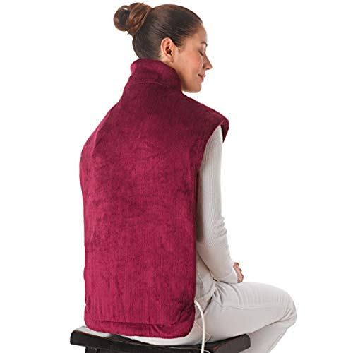 Ontel Thermapulse Relief Wrap Extra-Long Heat Wrap, Burgundy