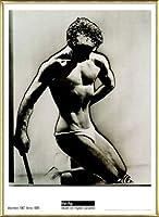 ポスター マン レイ Male Figure Study 1933 額装品 アルミ製ベーシックフレーム(ゴールド)
