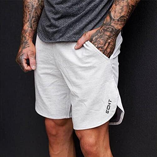 ShZyywrl Pantalones Cortos De Hombre Pantalones Cortos Deportivos De Playa para Hombre A La Moda, Pantalones Deportivos De Algodón para Culturismo, Pantalones