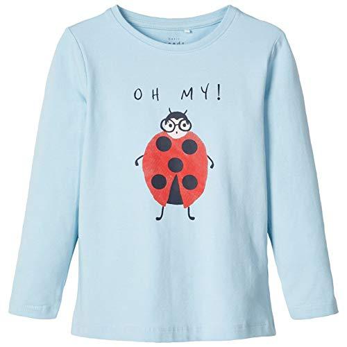 NAME IT Kinder Mädchen Langarmshirt Gr.92-128 Shirt blau Pullover neu!, Größe:98