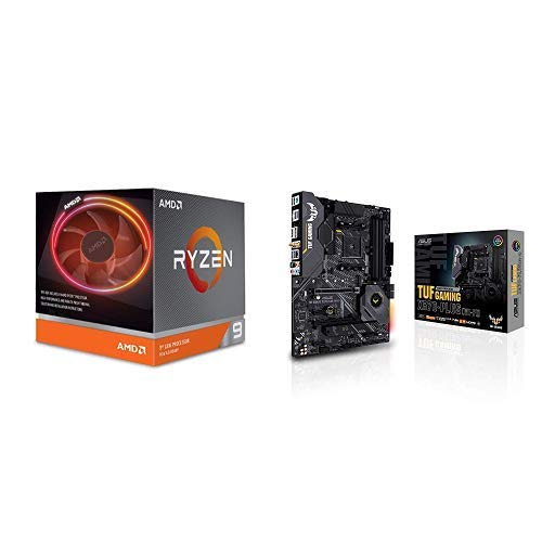 AMD Ryzen 9 3900X Processor (12C/24T, 70MB Cache, 4.6 GHz Max Boost), and ASUS X570-Plus (WiFi) Motherboard