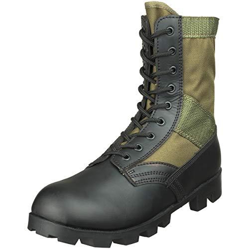 US Army Combat Vietnam Era Jungle Mens Boots Military Panama Sole, Olive, 43 EU (9 UK)