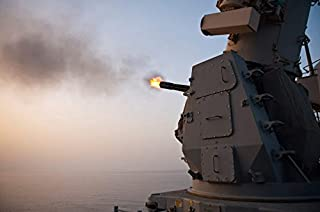 Posterazzi Poster Print Collection an MK-15 Close-in Weapon System Is Fired Aboard Uss Cape St George Stocktrek Images, (17 x 11), Multicolored
