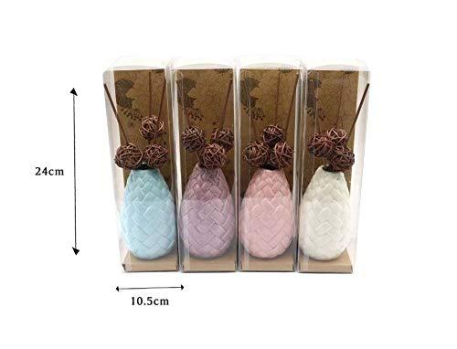 takestop DIFFUSORE Fiori Riccio FRAGRANZA Miste Ceramica con Bastoncini cc6267 con Ricarica per Ambiente Deodorante Profumo Aroma Terapia per CASA Colore Casuale