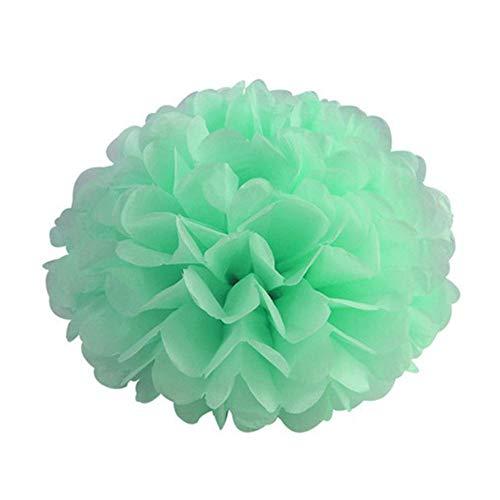 5st 6 '' - 12 '' tissuepapier pompoms bruiloft decoratieve papieren bloemen bal baby shower verjaardagsfeestje decoratie papier pom poms, mintgroen, 20cm 8inch