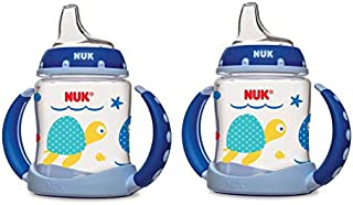 NUK Learner Cup Sea Creatures -Boys ,5-Ounce (2 Count)