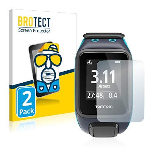 BROTECT 2X Entspiegelungs-Schutzfolie kompatibel mit Tomtom Runner 2 Bildschirmschutz-Folie Matt, Anti-Reflex, Anti-Fingerprint