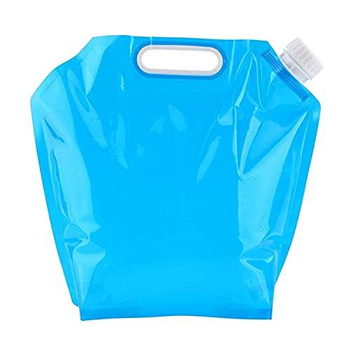 YDTX BidóN Agua,3 Unidades de Bolsas de Agua Plegable portátil de 10l de Material PE Bolsa de Agua Potable para Senderismo Camping Picnic de Viaje