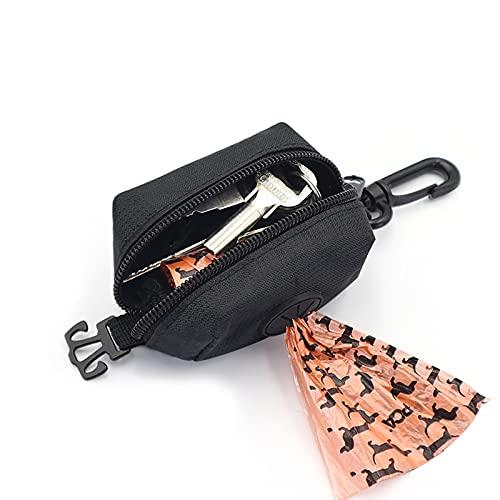 Yumech Hund Poop Tasche Halter Pet Abfall Tasche Dispenser Leine Gürtel Befestigung Tragbare Outdoor-Walking Hunde Müll Poop Taschen Träger Geeignet für Jede Gürtel