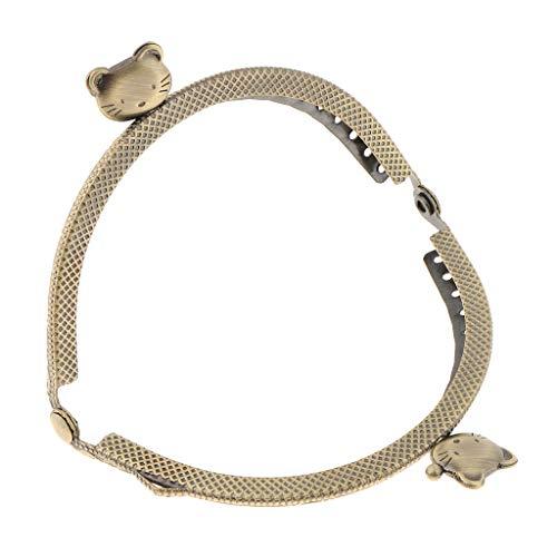 Fenteer Metall Taschenbügel zum einnähen Taschenverschluss für kleine Taschen und Börsen - 8,5 cm