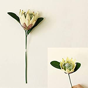 """JIEF Artificial King Protea Flower Bouquet Fake Plants for Wedding Home Party Decor Photo Props 15.7"""""""