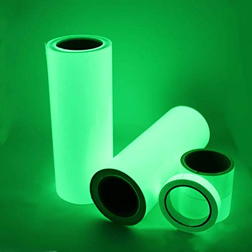 XRZH Cintas De Seguridad De Advertencia Ecológicas Portátiles De 3m Pet Que Brillan En La Cinta Luminosa Verde Oscuro Multifunción Autoadhesiva