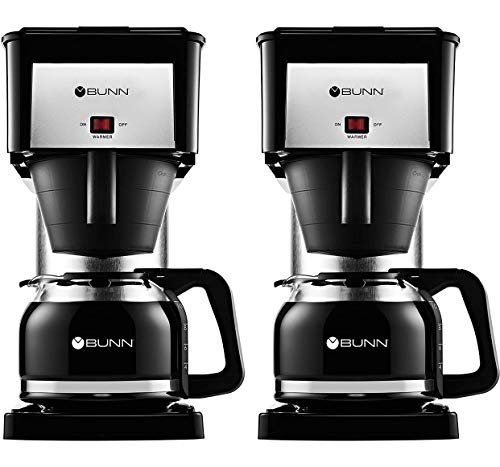 BUNN BX Speed Brew Classic 10-Cup Coffee Brewer, Black (Two Pack)