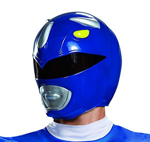 Disguise Herren Blue Ranger Adult Helmet Kostüme für Erwachsene, blau, Einheitsgröße