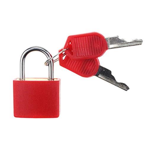 kowaku Travel Padlock Coloured Luggage Suitcase Secure Locks with 2 Keys - Red, 22x30mm