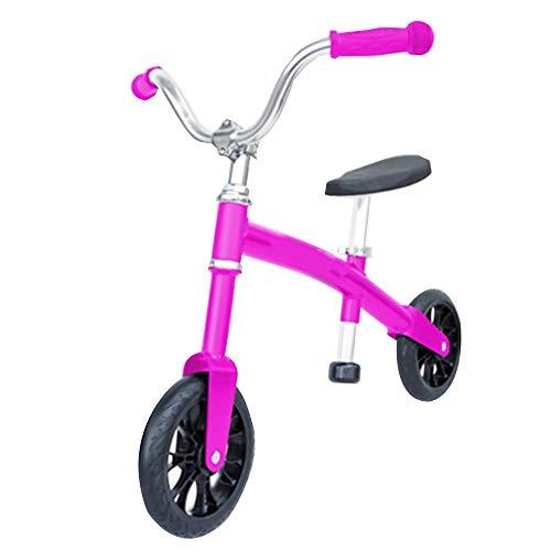 YumEIGE loopfiets kinderen 2-6 jaar oud, lichte balancefiets licht, makkelijk te dragen 20 kg, kinderloopfiets met verstelbare zithoogte zwart, roze roze