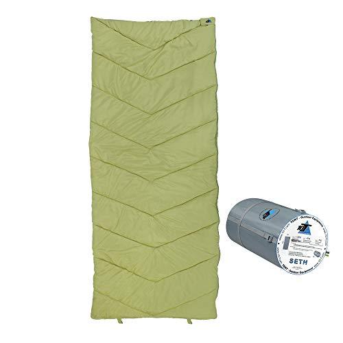 10T Schlafsack SETH -7° warm weich 1205g leicht Deckenschlafsack XL 200x80 Grün / Grau