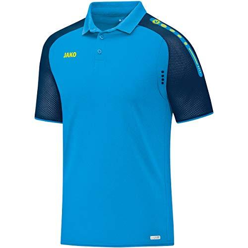 JAKO Herren Polo Champ, blau/Marine/Neongelb, 3XL