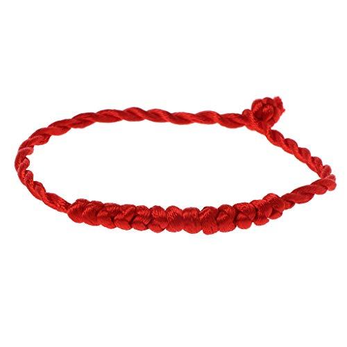 SimpleLife Kabbalah Red String geflochtenes Armband Schutz für gutes Glück gegen bösen Blick Bangle für Frauen Mädchen