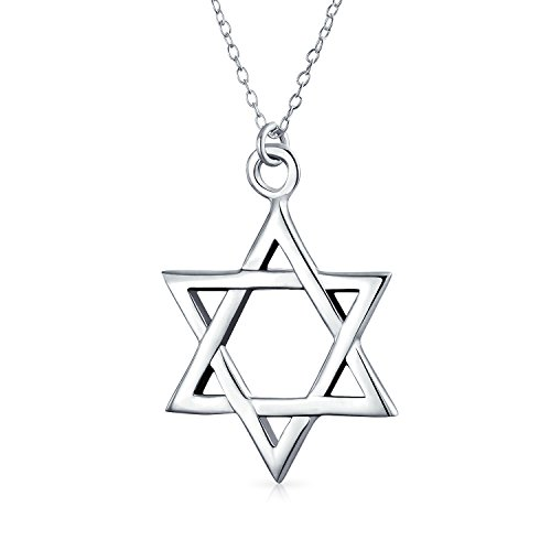 Janucá Básica Magen Judío Collar Del Colgante De Estrella De David Para Mujer Y Para Los Hombres De Plata Esterlina 925