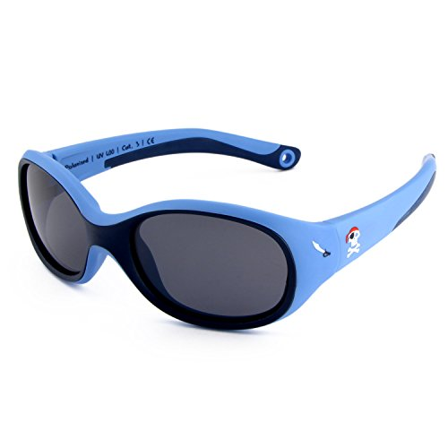 ActiveSol KINDER-Sonnenbrille | JUNGEN | 100{ff7ff7501c9f975dae9b4b3979844fa7b1c12e35927ece32026ed839f4c79a95} UV 400 Schutz | polarisiert | unzerstörbar aus flexiblem Gummi | 2-6 Jahre | 22 Gramm [Pirat]