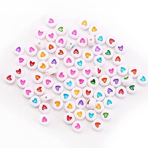 1200 cuentas con letras del alfabeto, cuentas para collares, cuentas de letras de colores, letras para pulseras,