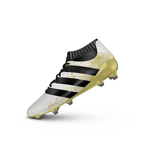 adidas Ace 16.1 Primeknit FG, Botas de fútbol para Hombre, Blanco (Ftwbla/Negbas/Dormet), 39 1/3 EU