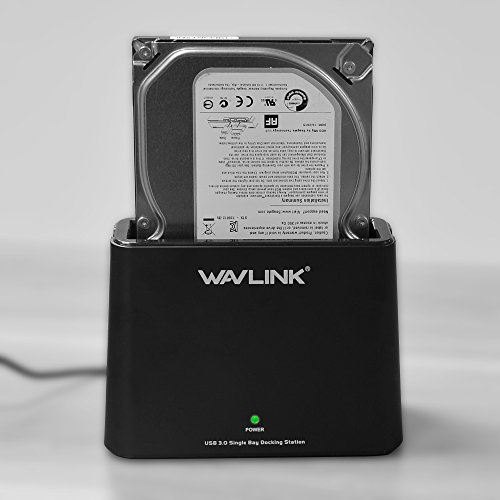 WAVLINK USB 3.0 to SATA External Hard Drive Docking Station for 2.5/3.5 Inch SATA I/II/III HDD SSD, Support Backup/UASP Functions [10TB],Tool-Free-Black