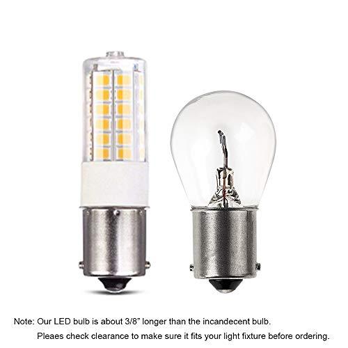 Makergroup 12VAC/DC Low Voltage 3Watt BA15S S8 SC Bayonet Single Contact Base 1156 1141 LED Light Bulb 2700K-3000K for Outdoor Landscape Lighting Path Deck Lights RV Lighting(6-Pack,Warm Color)