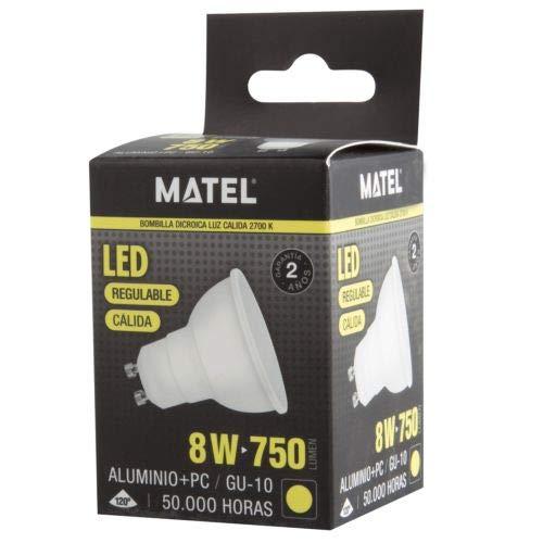 MATEL M292022-led Ampoule gu10 8w-750 lumenes réglable