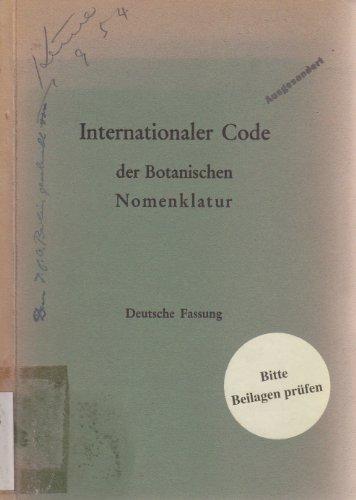 Internationaler Code der botanischen Nomenklatur. Anh. 3. Internationaler Code der Nomenklatur für Kulturpflanzen