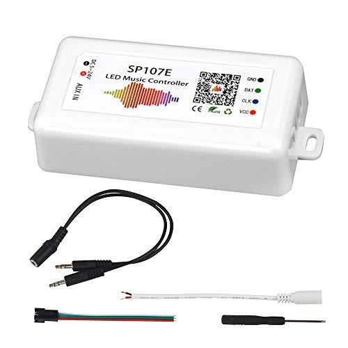 VIPMOON SP107E Bluetooth LED Musik Controller für LED-Streifen WS2811 WS2812B WS2801 SK6812