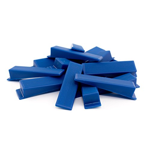 Lantelme 400 Stück Keile für Fliesenverlegehilfe passend für Zuglaschen Fliesendicke 3-15mm - Heimwerker und Profi