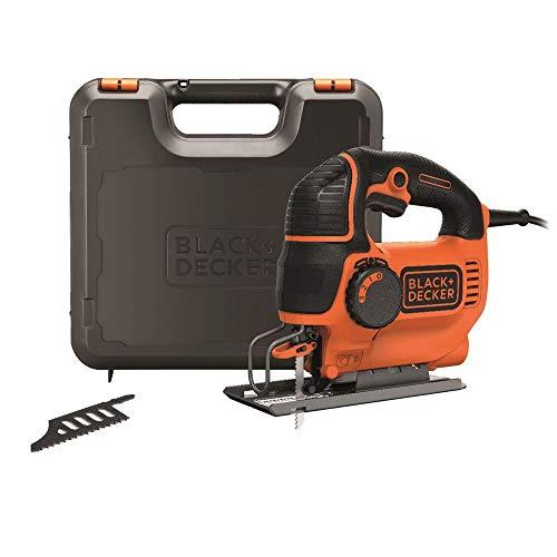 Preisvergleich Produktbild Black+Decker Elektro Stichsäge 620W KS901PEK 4-stufige Pendelhubstichsäge mit Koffer für Holz,  Metall & Kunststoff Säge mit einfachem werkzeuglosen Sägeblattwechsel