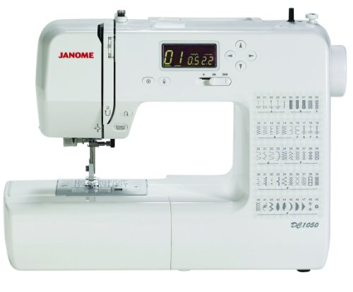 Janome DC1050 Computerized Sewing Machine with 1/4 Inch Seam Foot, 2ea Size and 12 Needle Pack