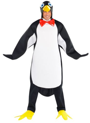 amscan 997687 3-teiliges Pinguin-Kostüm für Erwachsene, Mehrfarbig, Standard