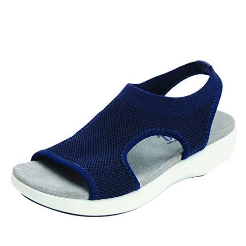 Alegria TRAQ Qeen Womens Smart Walking Shoe Navy 8 M US