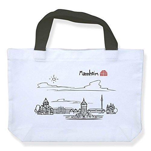 Einkaufstasche Skyline Mannheim - als Geschenk für echte Monnemer & Mannheim-Fans oder als Mannheim Souvenir - die stadtmeister